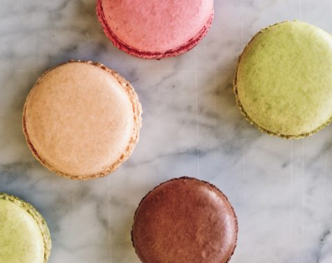 macarons at Cafe Anglais at the Windsor Court Hotel