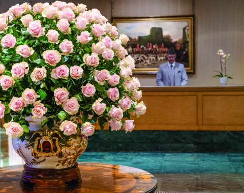 Windsor Court Lobby Rose Display